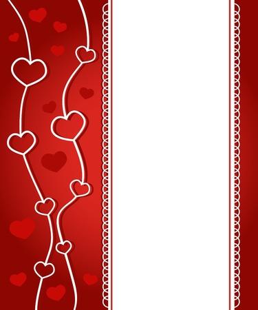 Harten Valentijn kaart Stockfoto - 15548760