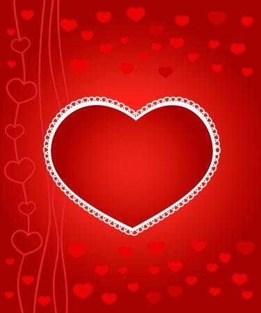 illustration of romantic Valentine's Day card Stock Vector - 15548759