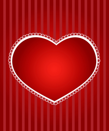 Red valentine's day card with hearts Stock Vector - 15548797