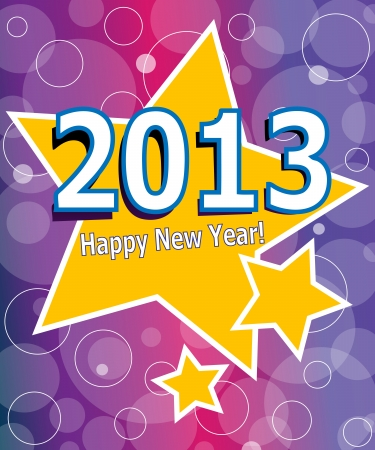 New 2013 year greeting card made in origami style Vector