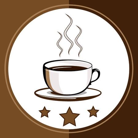 Cup of hot drink - coffee, tea Stock Vector - 15804920