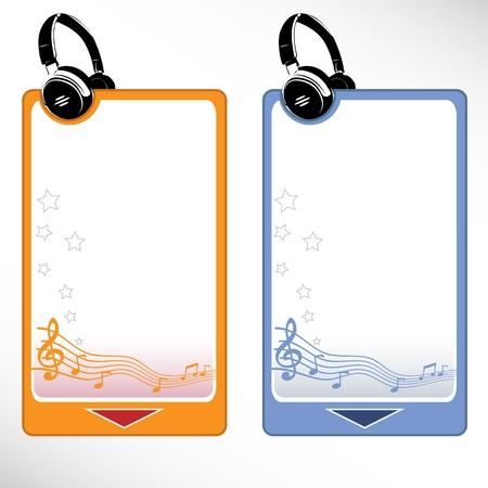 auditory: Headphone set - music menu Illustration