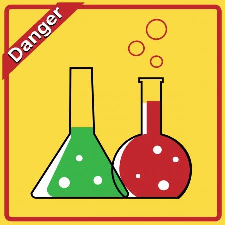 Illustratie van laboratoriumapparatuur met kleurrijke oplossing Stockfoto - 15935583