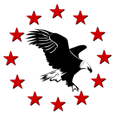 American Eagle and stars Vector