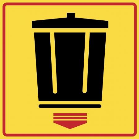cesto basura: Cestos de reciclaje aislado en blanco