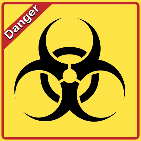 Biohazard sign. Yellow and black bio hazard Vector