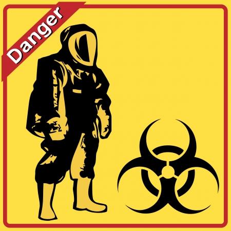 riesgo biologico: Advertencia de riesgo biológico en signo amarillo Vectores