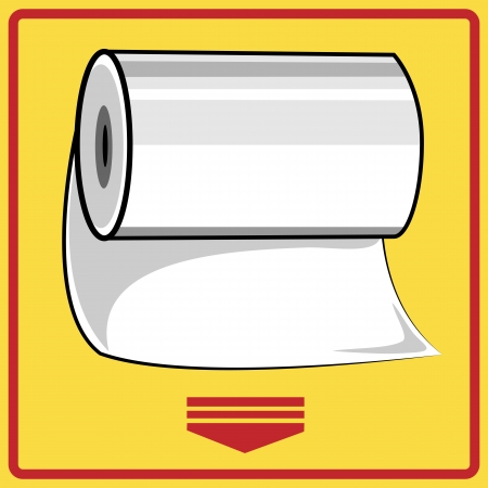Hand paper towels roll Vector
