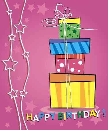 Vector illustration of happy birthday card design Vector