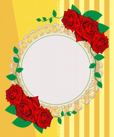 fita: Rosas do vintage seamless pattern. Cart
