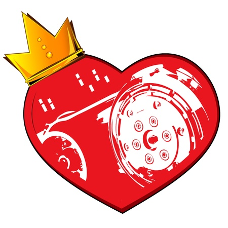 heart with crown: Heart crown and motor