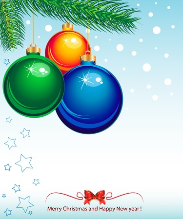 suggestive: New Year and Christmas elegant suggestive background for greetings card Illustration