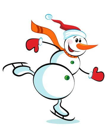 Snowman isoliert auf weißem Hintergrund