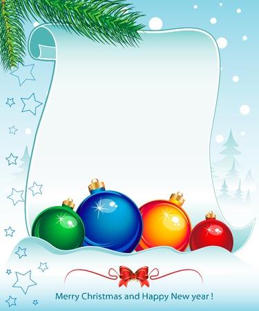 Nieuwe jaar en tijdens de kerstvakantie kleurrijke achtergrond Stock Illustratie