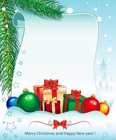 새 해와 크리스마스 휴일 배경에서 Colorfull