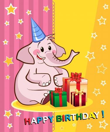 Happy birthday card design Stock Vector - 16633653