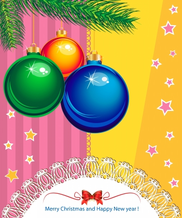 New Year and Christmas elegant suggestive background for greetings card Stock Vector - 16633659