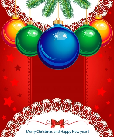 Merry Christmas for greetings card Stock Vector - 16665314