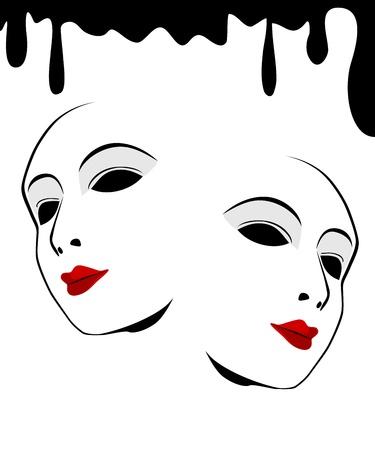Plain white mask against a white background. Stock Vector - 16693470