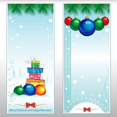 New year collection of gift cards with ribbons Stock Vector - 16766003