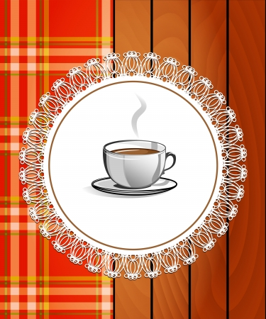 Cup of hot drink - coffee, tea  Menu for restaurant Stock Vector - 16846115