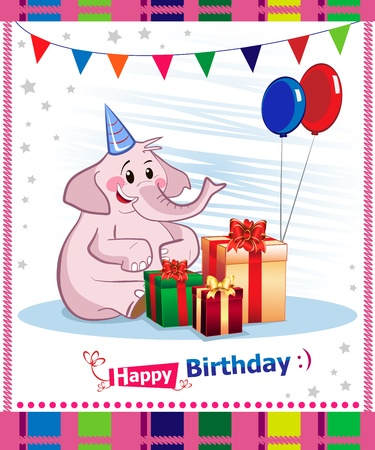 Happy birthday card design Stock Vector - 16882399