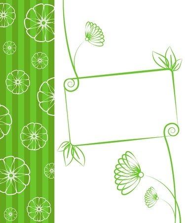 Beauty floral illustration. Floral green background. Stock Vector - 17143238