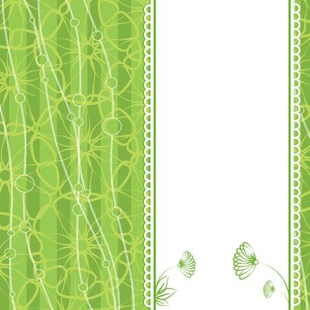 Invitation card  Flower  Template frame design for card Stock Vector - 17195388