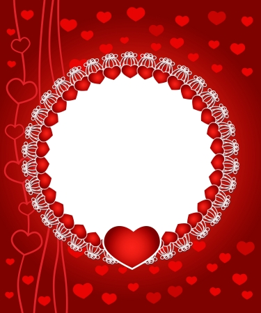 illustration of elegant, stylish, romantic Valentine Vector