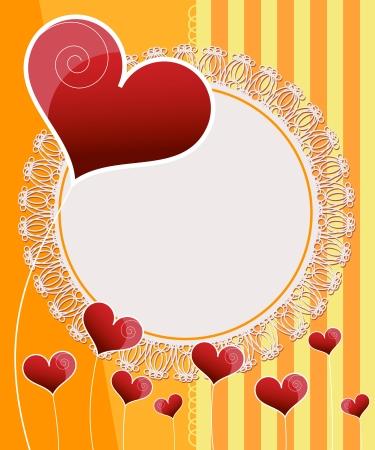 Invitation card design. Wedding card Stock Vector - 17328312