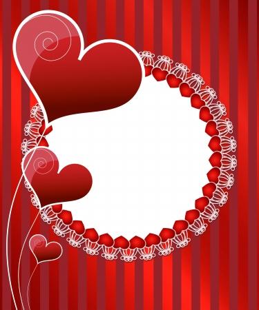 Invitation card design. Wedding card Stock Vector - 17328330