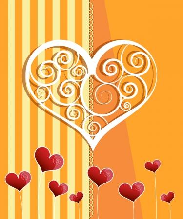 Invitation card design. Wedding card Stock Vector - 17380810