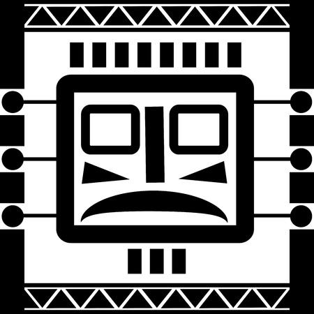Ornament in stijl van de Maya's Stock Illustratie