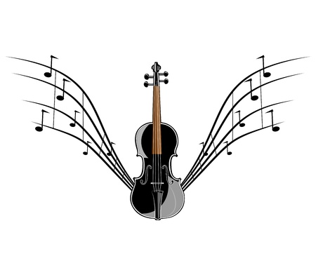Violin instruments illustration Vector