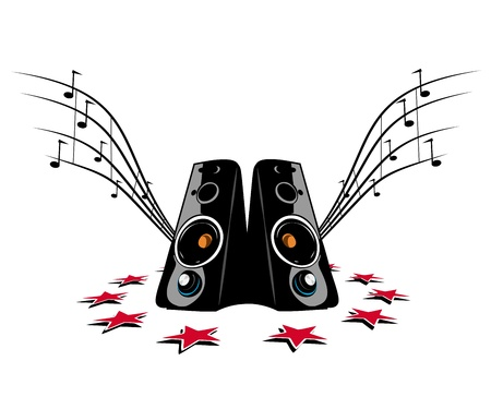 sub woofer: Speaker on white background