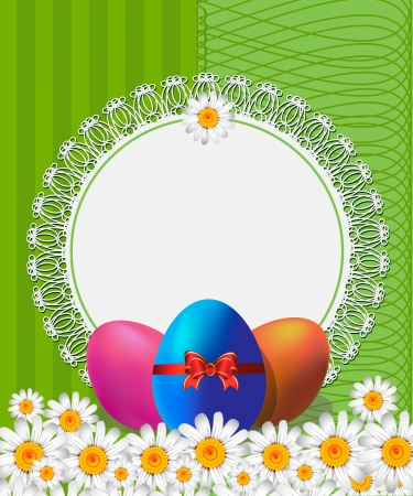 Easter background with place for text Stock Vector - 17665630