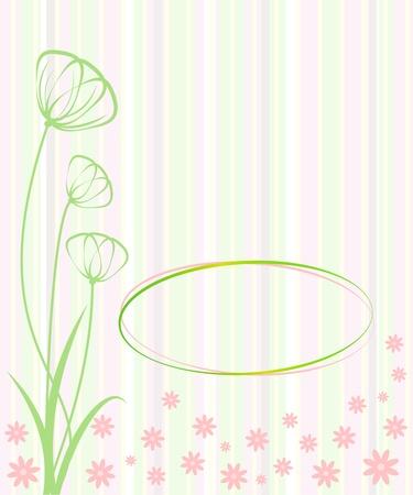 Invitation card  Flower  Template frame design for card Stock Vector - 17781640