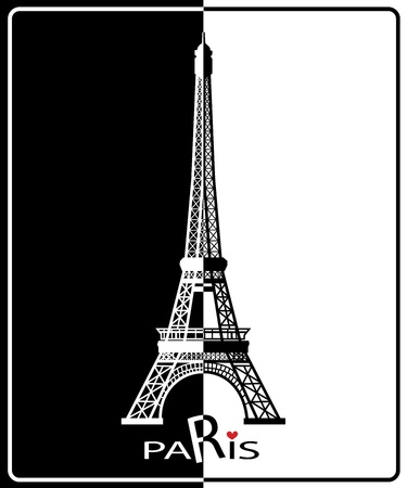 Eiffel Tower in Paris , Europe Vector