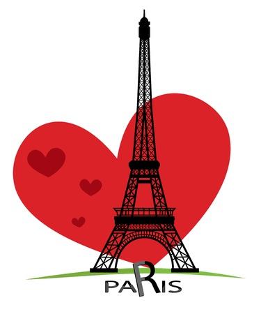 Parijs kaarten als symbool liefde en romantiek reizen