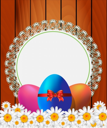Easter background with place for text Stock Vector - 17781695