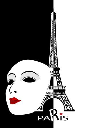 paris france: Paris cards as symbol love and romance travel Illustration