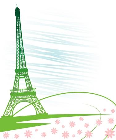 tour eiffel: Eiffel tower in Paris for travel design.