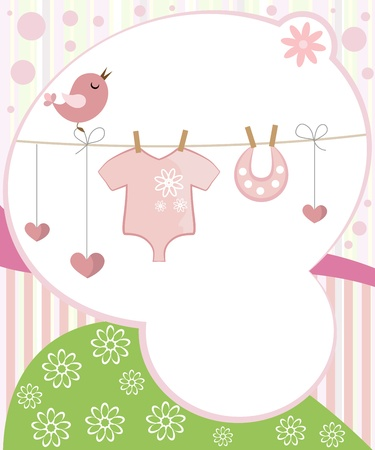 아기 요소와 소녀를위한 귀여운 스크랩북.