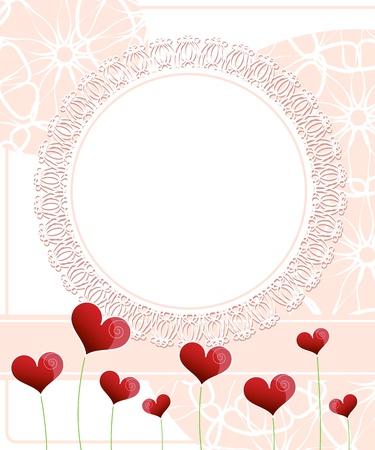 Invitation card design. Wedding card Stock Vector - 18850977