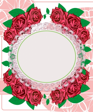 Wedding card. Greeting card with roses Stock Vector - 18902630