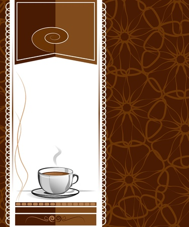 Menu for cafe, bar, restaurant, coffeehouse Vector