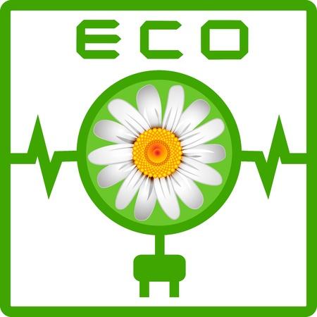 chamomel: Ecology icon Illustration