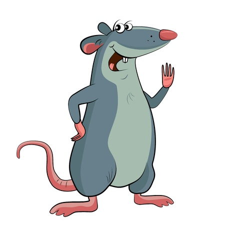 Mouse on a white background Illustration
