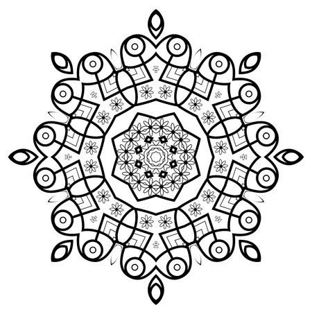 craft ornament: Round ornamental frame Illustration