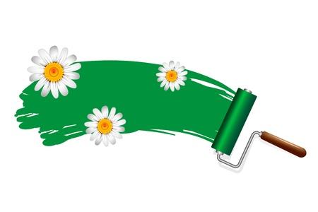 Peindre les rouleaux de produits respectueux de l'environnement Banque d'images - 20727729